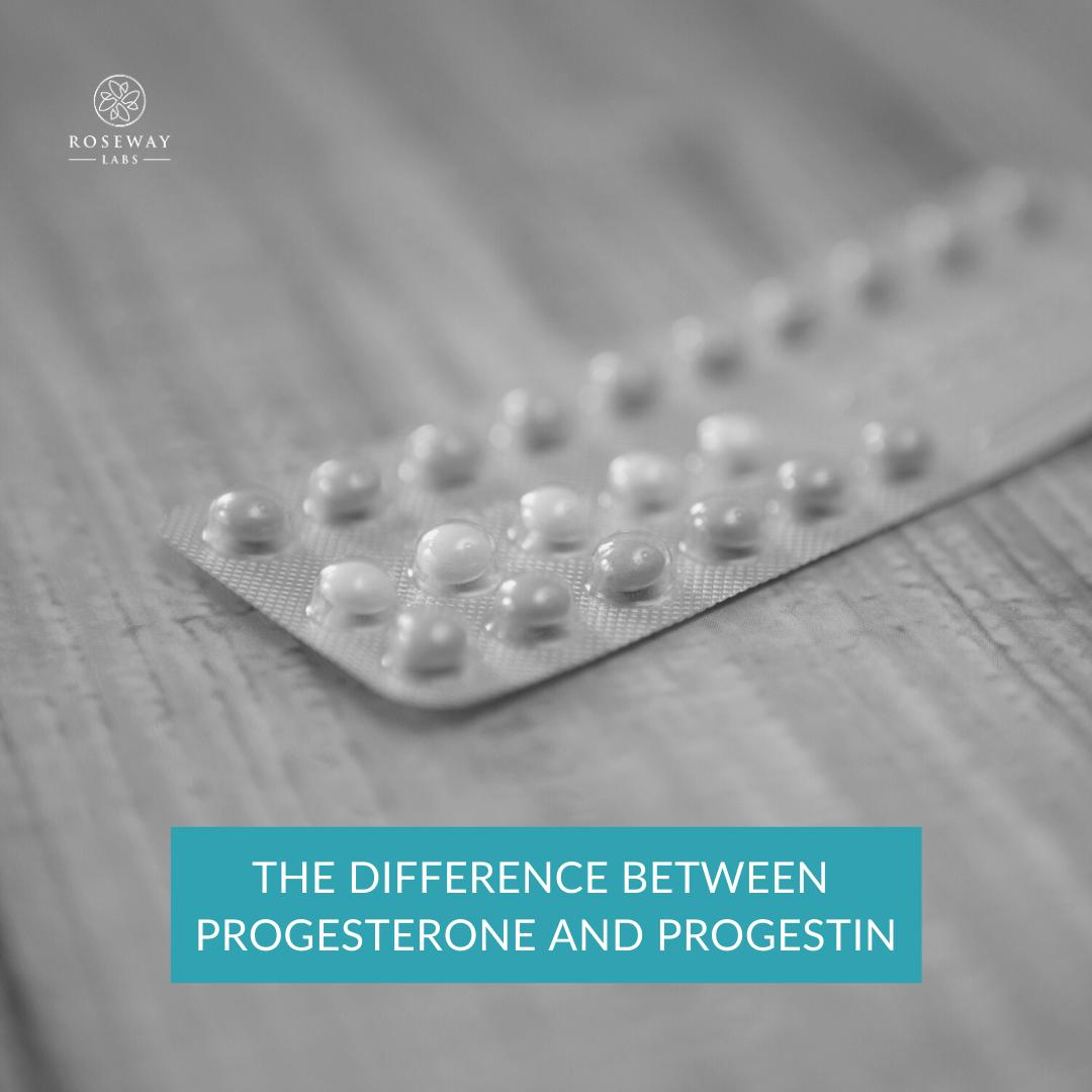 difference between progesterone and progestin